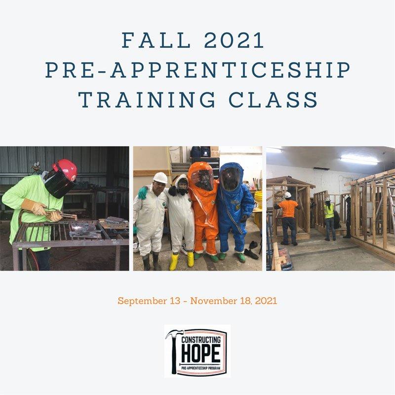 Fall 2021 Pre-Apprenticeship Class