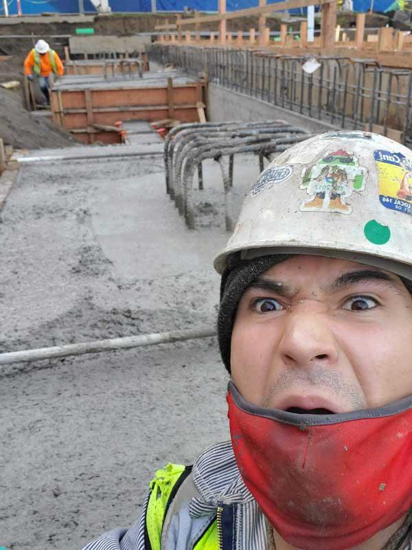 Scott Spector CH graduate at Construction Site