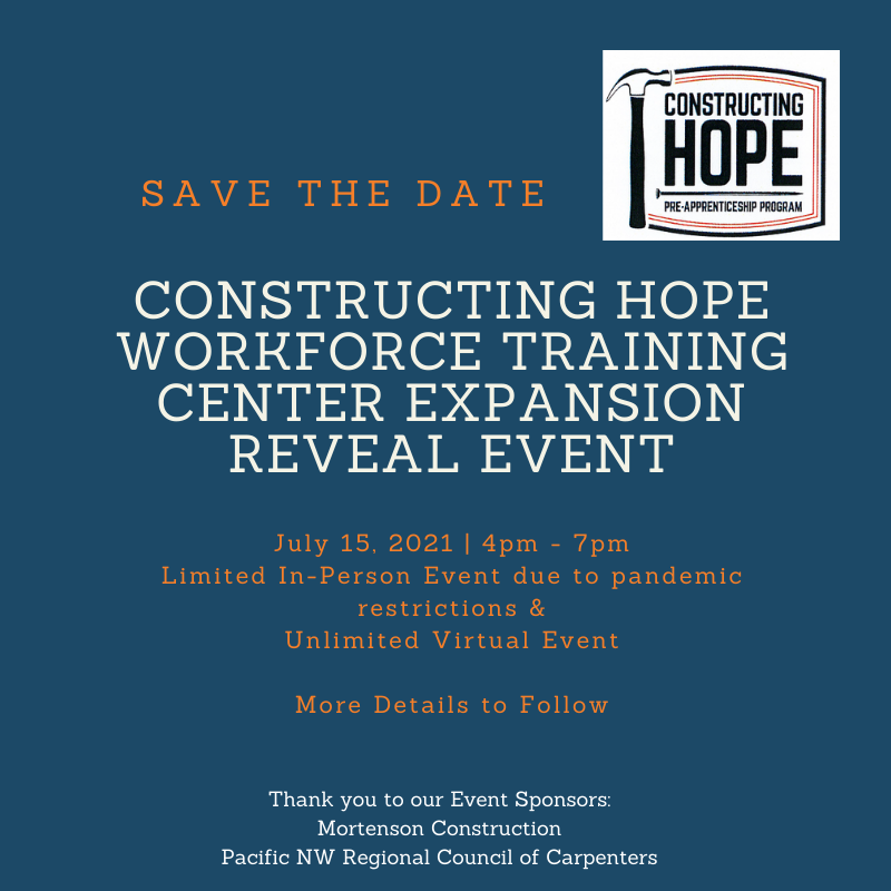 Expansion Reveal Event Save the Date