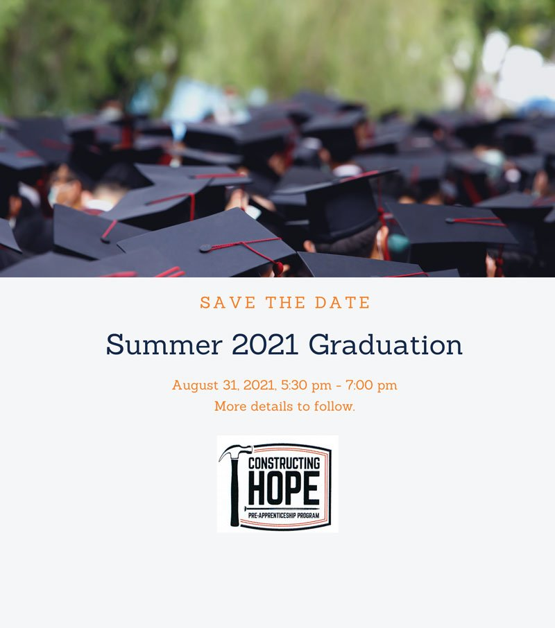 Summer 2021 Graduation Save-the-Date