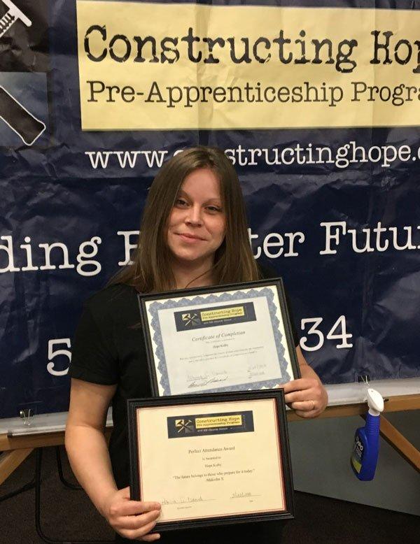 Hope Kidby Award & Certificate