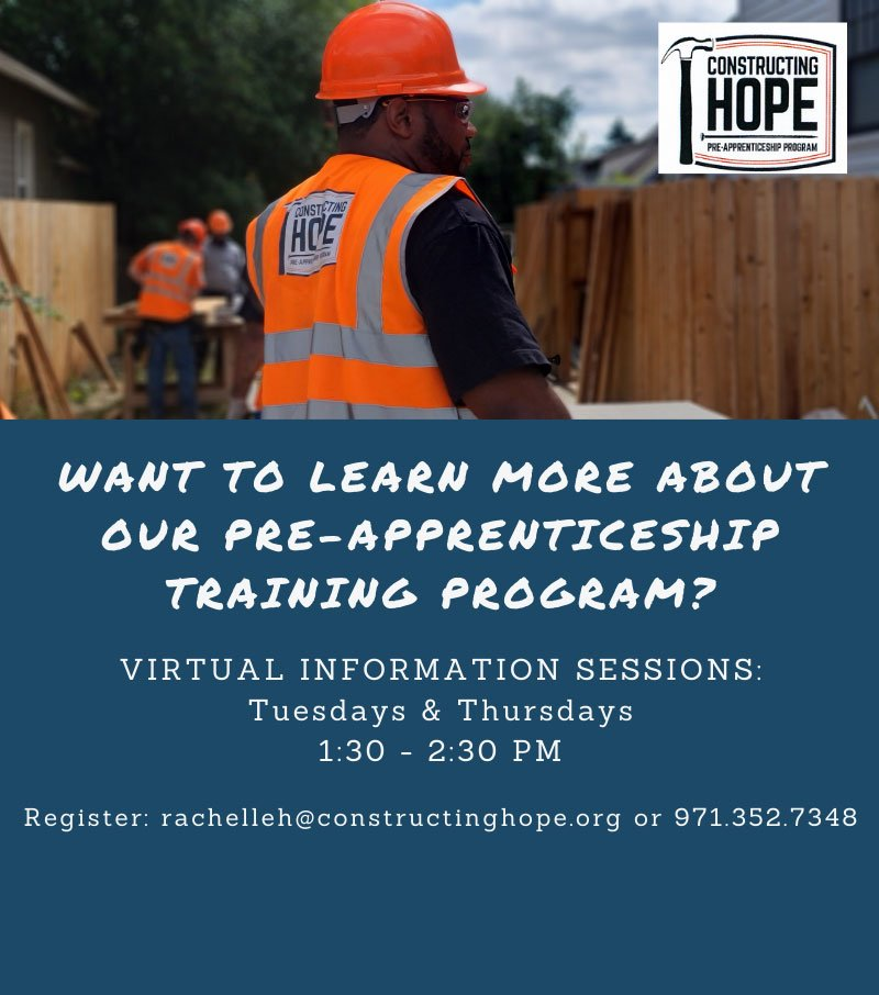 Pre-Apprenticeship Virtual Training Sessions