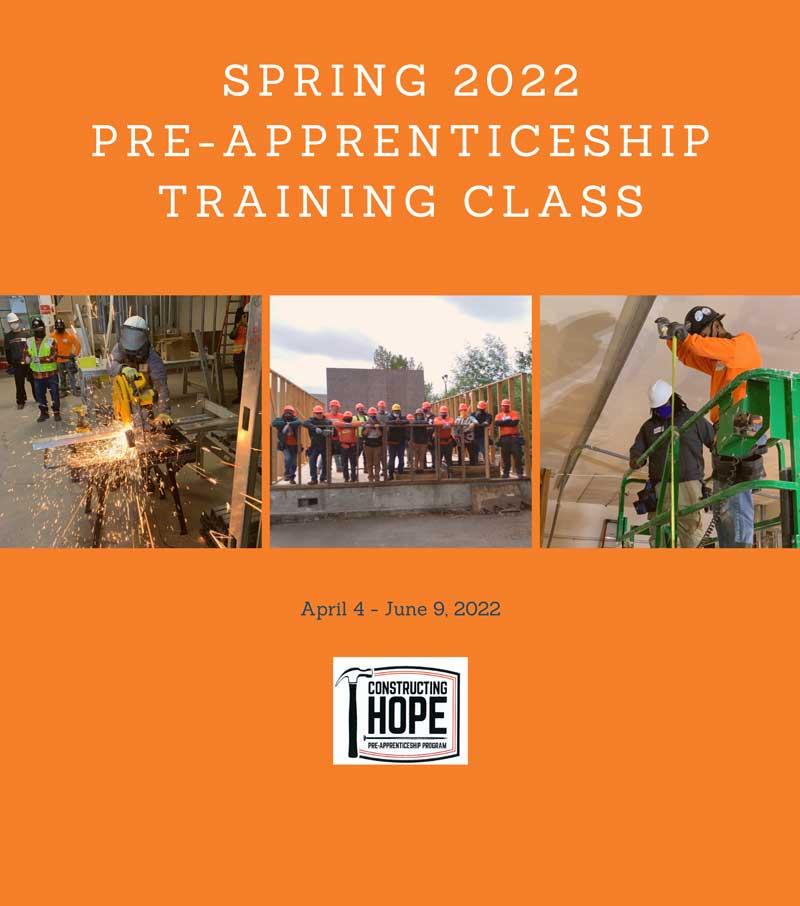 Spring 2022 Pre-Apprenticeship Training Class