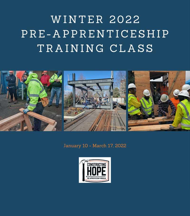 Winter 2022 Pre-Apprenticeship Class